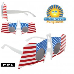 ''Party GLASSES ''''American Flags'''' ~ P1015 (12 pcs.)''