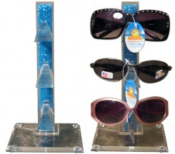Blue Bead Sunglass Display Stand