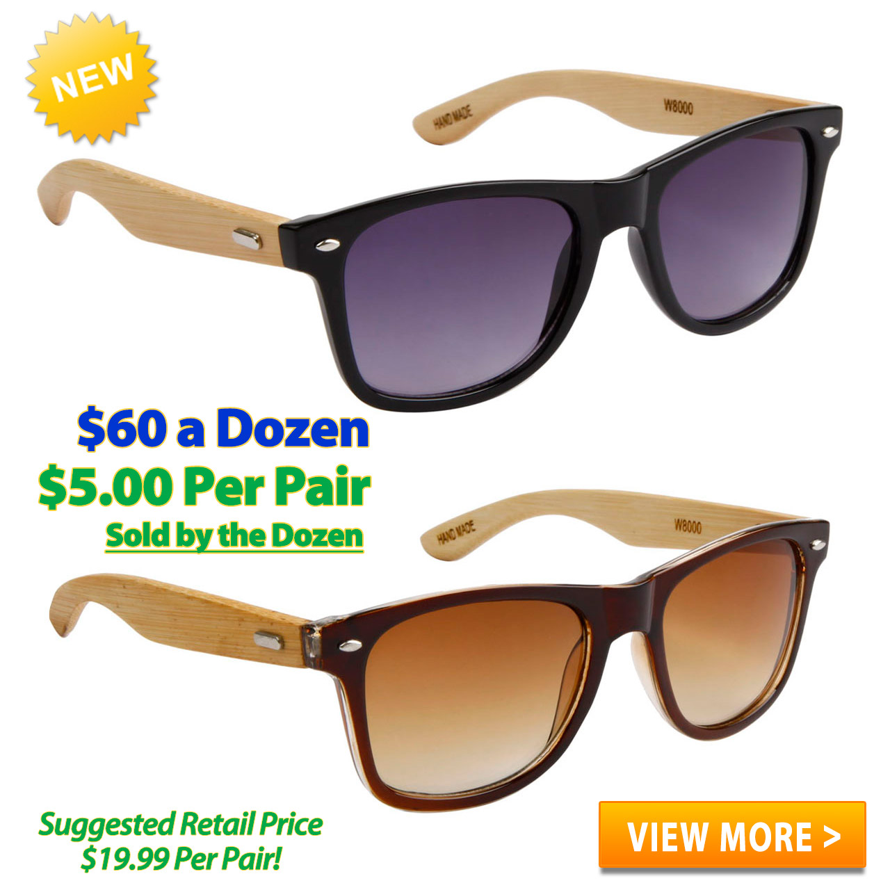 Bamboo Sunglasses Wholesale