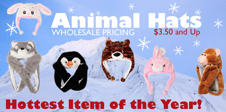 Wholesale Animal Hats