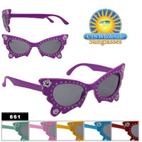 Girl's Butterfly Sunglasses 661