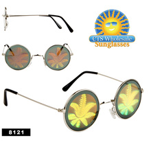 Pot Leaf Hologram Sunglasses