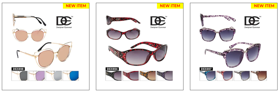Wholesale De-Designer Sunglasses