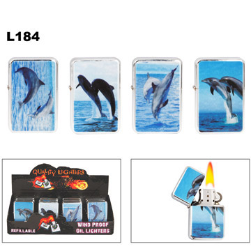 Dolphins Steel Lighters