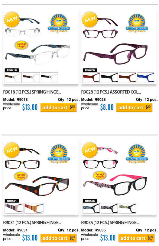 New Wholesale Reading Glasses
