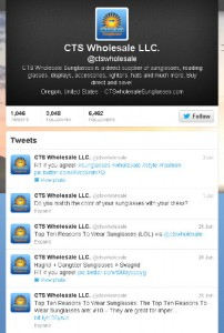 CTS Wholesale Sunglasses twitter feed